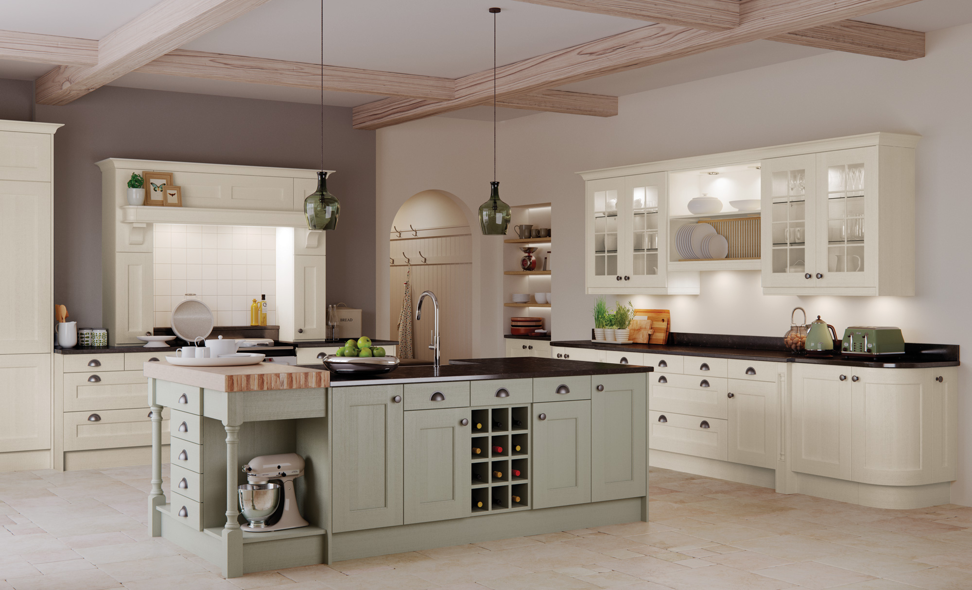 wakefield ivory sage green - Sage Kitchen