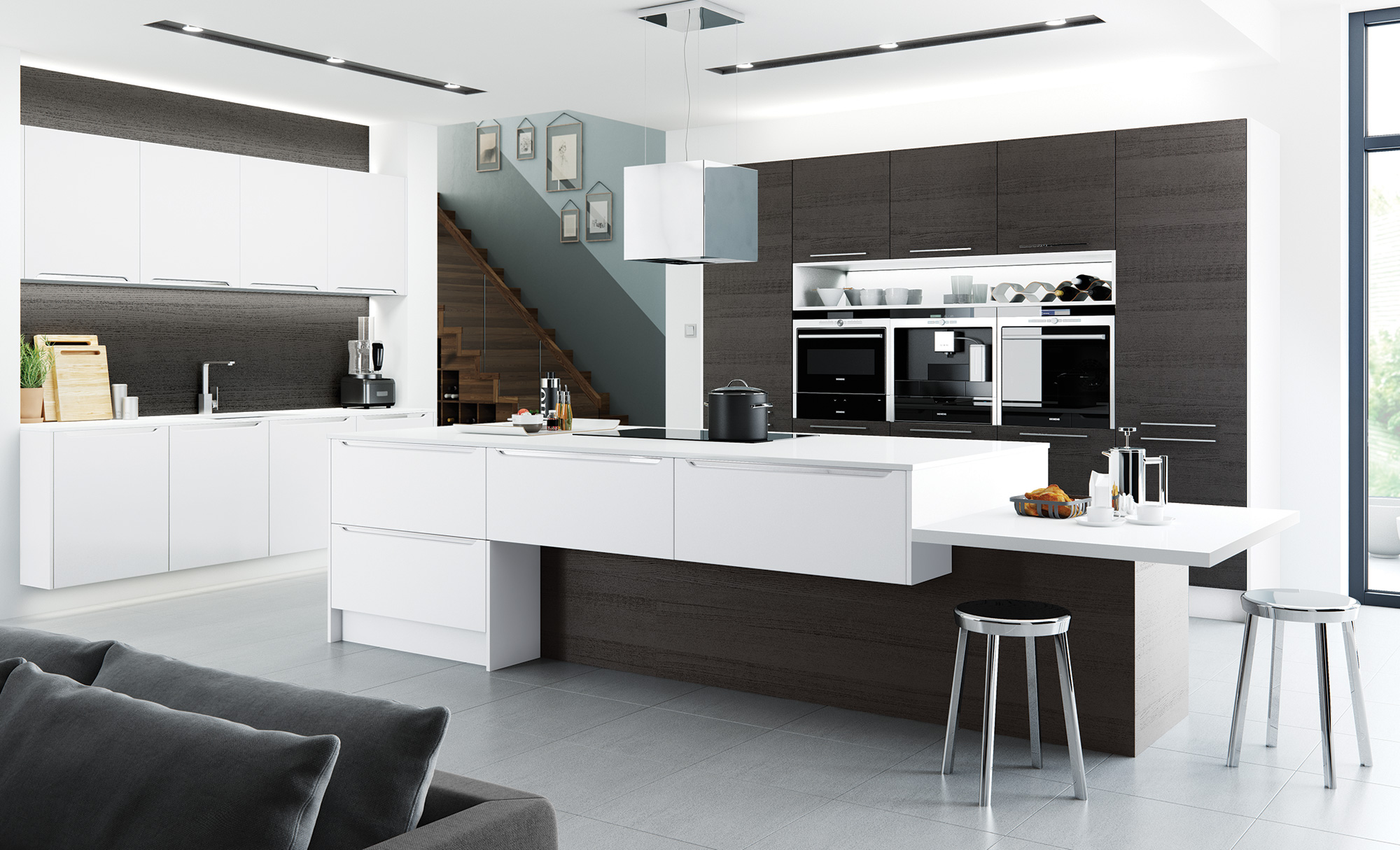 Florence Stone & Light Grey – Quayside Kitchens